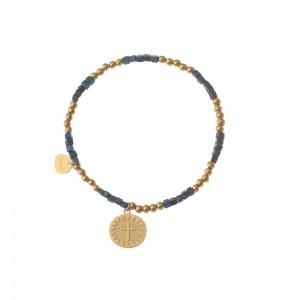 Bransoletka kółko, krzyżyk, złoty S1V72028-1Z
