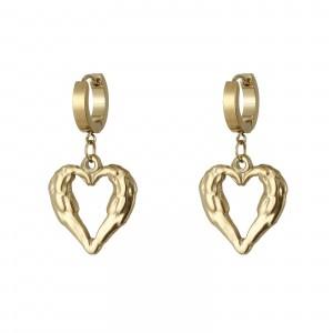 Kolczyki serce, kolor złoty złoty S2V71518-Z