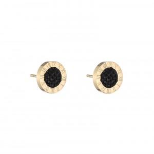 Kolczyki kółeczko, kryształki, czarny S2V71713-2Z