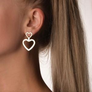 Kolczyki serce, kolor złoty S2V71645-2Z