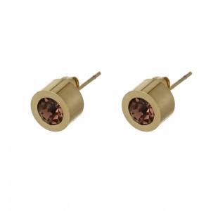 Kolczyki kryształek, ciemny różowy S2V71649-5Z