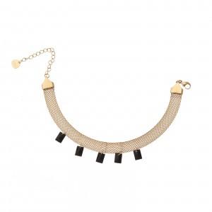 Bransoletka kryształki, czarny, złoty S1V71794-1Z