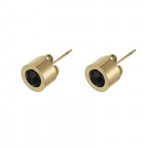 Kolczyki kryształek, czarny, złoty S2V71649-2Z