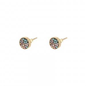 Kolczyki kółeczka, kryształki,kolorowy S2V71618-2Z
