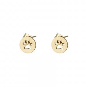 Kolczyki łapa, kółeczko, złoty S2V71689-2Z