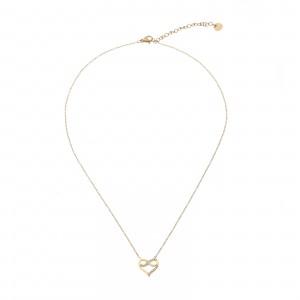 Naszyjnik serce, nieskończoność, złoty S3V72029-Z