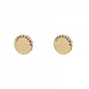 Kolczyki kółko, cyrkonie, kolor złoty S2V71582-Z