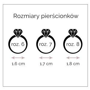 Pierścionek Stal Nierdzewna S4H70027-2(rozmiar8)