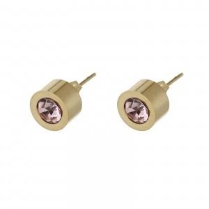 Kolczyki kryształek, jasny różowy S2V71649-3Z