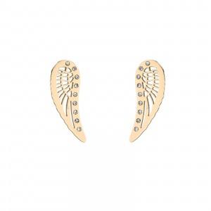 Kolczyki skrzydła, kolor złoty S2V71578-Z
