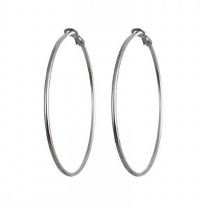 Kolczyki koła, srebrny kolor (6cm) S2V71549-3S