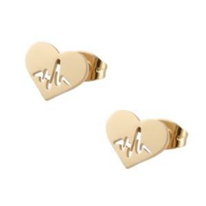 Kolczyki serce, linia życia, złoty S2V71386-Z