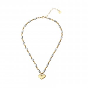 Choker serce, złoty, srebrny S3V72171-3Z