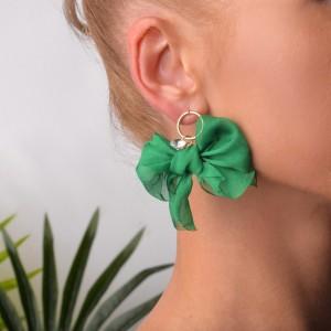 Kolczyki kokardki, zielony B2V70463-6
