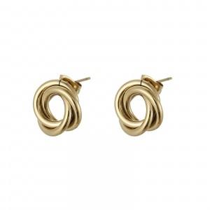 Kolczyki węzeł, kolor złoty S2V71619-1Z