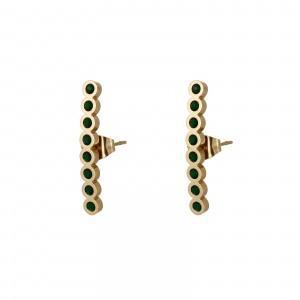 Kolczyki kryształki, zielony, złoty S2V71638-9Z