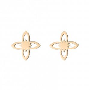 Kolczyki lilie,kolor złoty S2V71627-Z