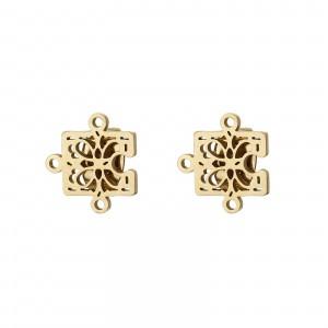 Kolczyki puzle, złoty S2V71652-Z