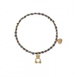 Bransoletka miś, niebieski, złoty S1V71994-Z