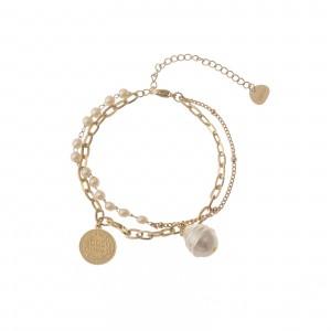 Bransoletka perełki, moneta, złoty S1V71749-Z
