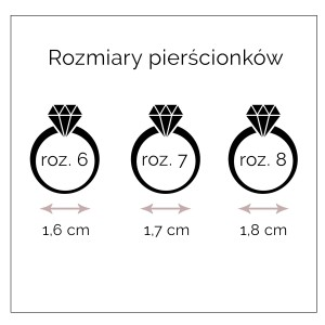 Pierścionek Stal Nierdzewna S4H70047-1(rozmiar7)