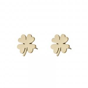 Kolczyki koniczyna, kolor złoty S2V71687-Z