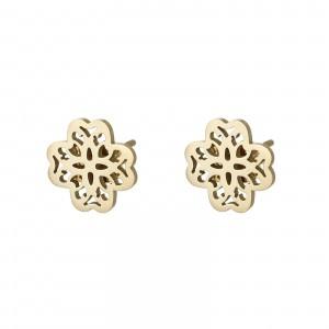Kolczyki koniczynki, kolor złoty S2V71653-Z
