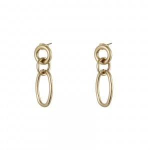 Kolczyki łańcuch, kolor złoty S2V71507-Z