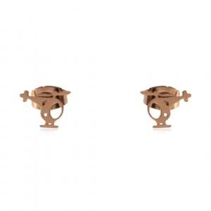 Kolczyki wkrętki, stal, kolor złoty 205317-ZK