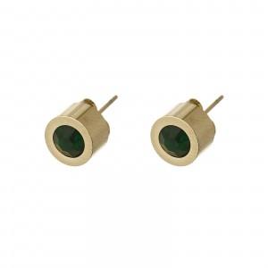 Kolczyki kryształek, zielony, złoty S2V71649-4Z