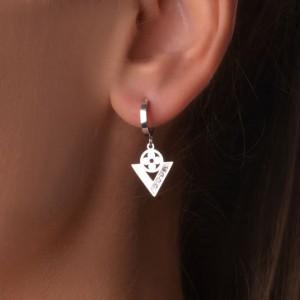 Kolczyki trójkąty, kolor srebrny 2SH0008-S