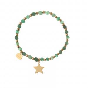 Bransoletka gwiazdka, kamień, zielony S1V72026-1Z