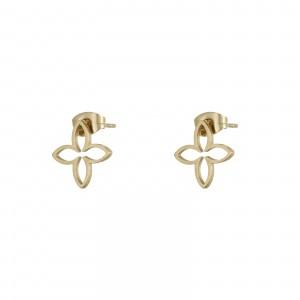 Kolczyki małe lilie, kolor złoty S2V71686-Z