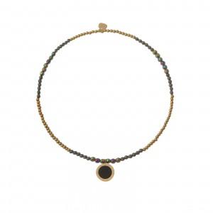 Bransoletka kółko, kyształki, złoty S1V72183-1Z