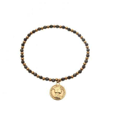 Bransoletka kryształki, moneta, złoty S1V71895-Z