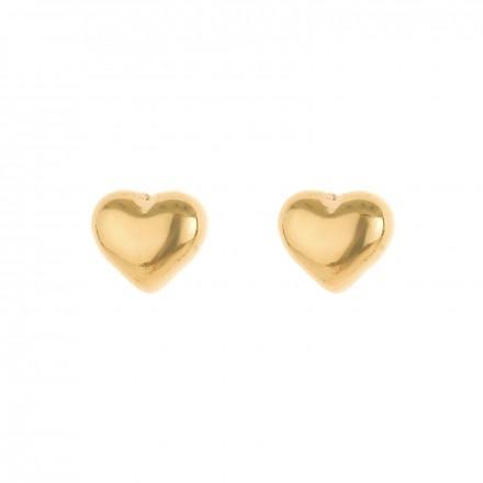 Kolczyki serce, kolor złoty S2V71620-1Z