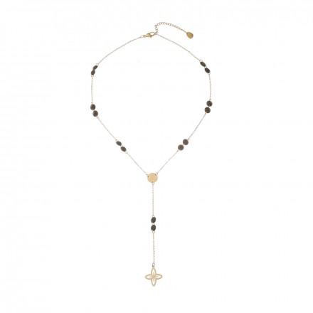 Naszyjnik krawatka lilia, złoty S3V72144-2Z